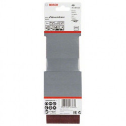 Estuche de 3 bandas de lija Bosch Best for Wood and Paint X440 Grano 40 75x457mm.