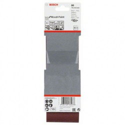 Estuche de 3 bandas de lija Bosch Best for Wood and Paint X440 Grano 80 75x533mm.