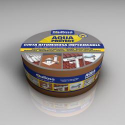 AQUA PROTECT Cinta Bituminosa 10cm x 10 m Aluminio Quilosa