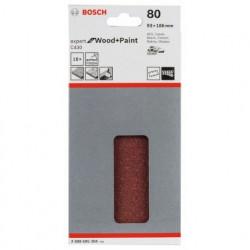 Hoja de lija Bosch Expert for Wood and Paint C430 Grano 80 93x186mm.