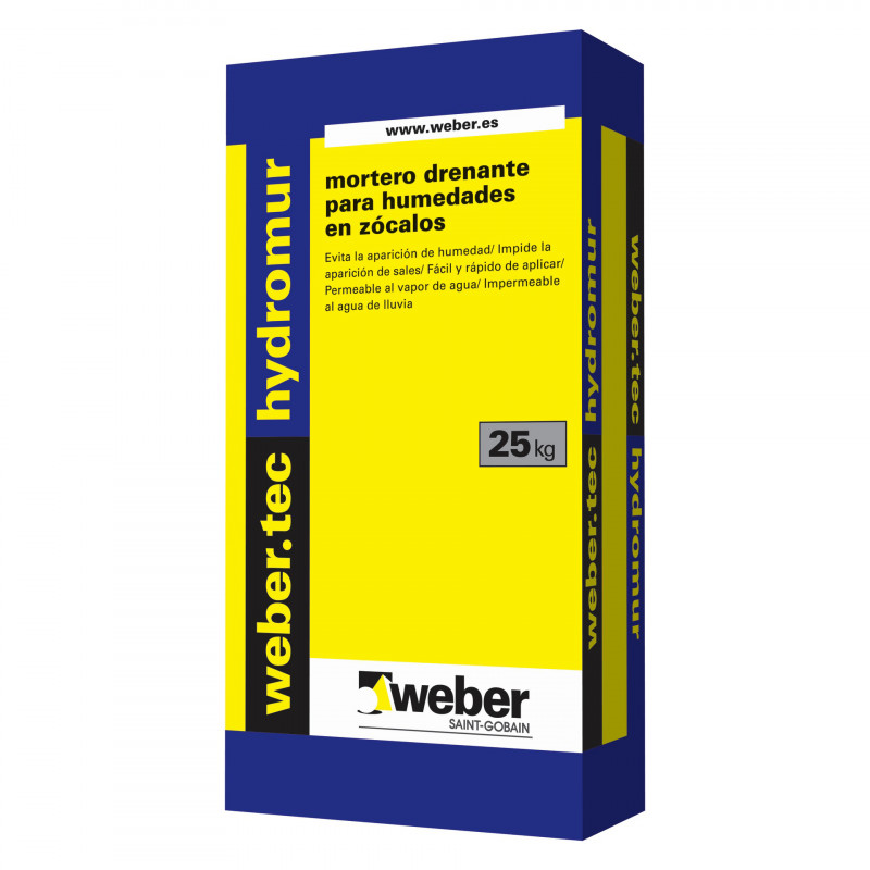 WeberTec Hydromur 25Kg. Blanco