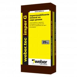 WeberTec Imper G 25Kg. Gris