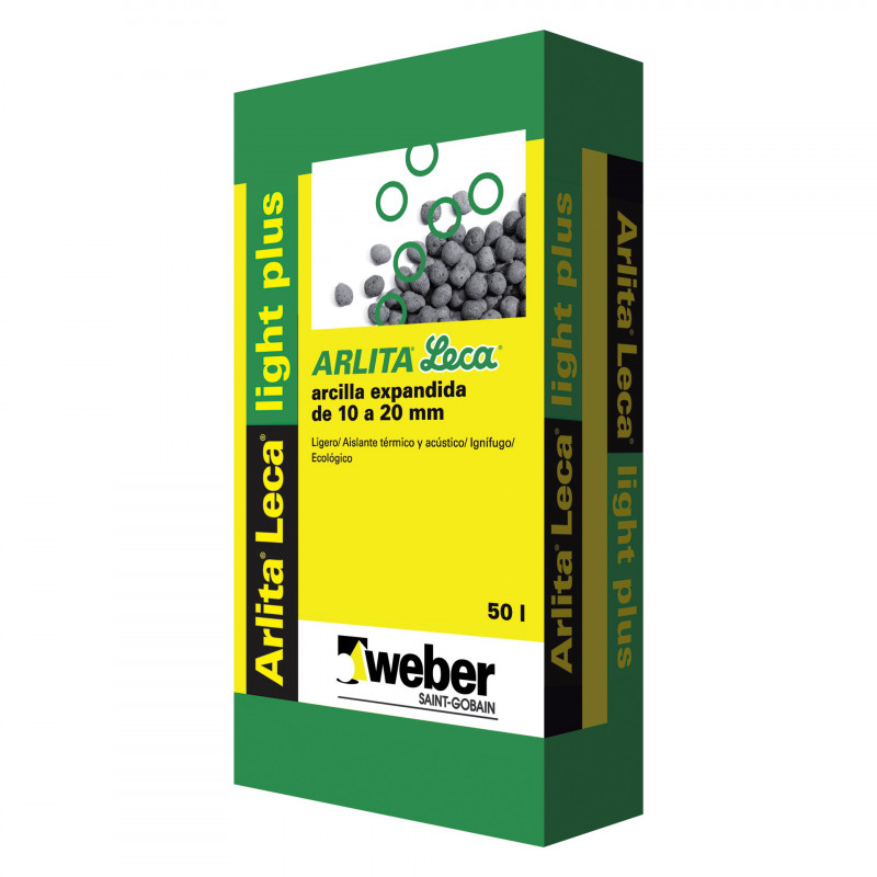 Saco Arlita Leca Light Plus 10-20 Mm (Weber) 50 Ltos