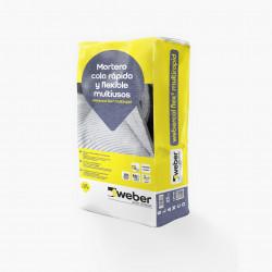 WeberCol Flex² Multirapid 25Kg. Gris