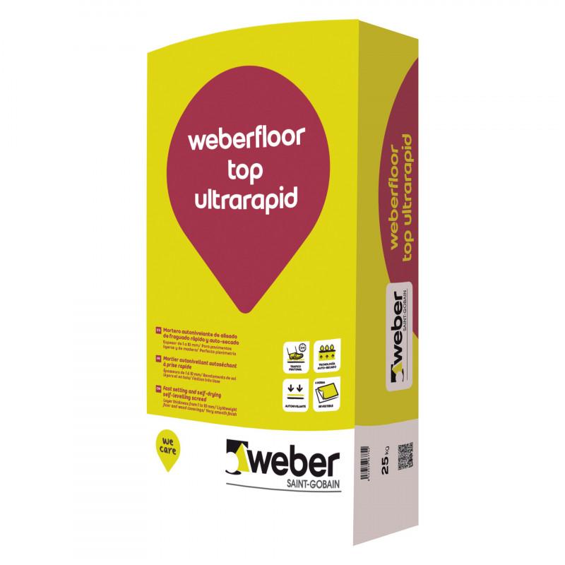 WeberFloor Top Ultrarapid 25Kg. Gris