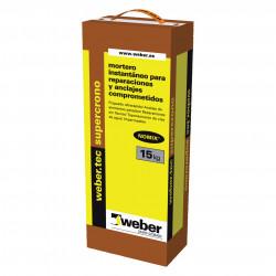 WeberTec Supercrono 15Kg. Gris