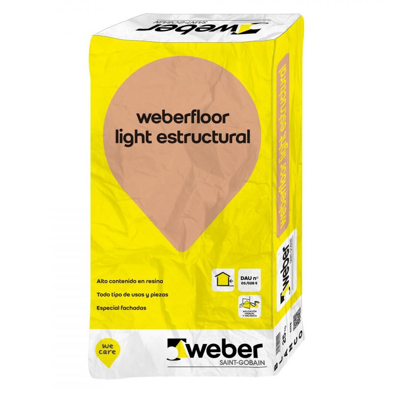 WeberFloor Light Estructural 25Kg. Gris