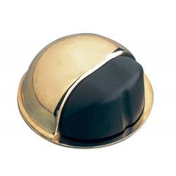 Tope de puerta Goma Negra Oro Ø50mm. de Amig