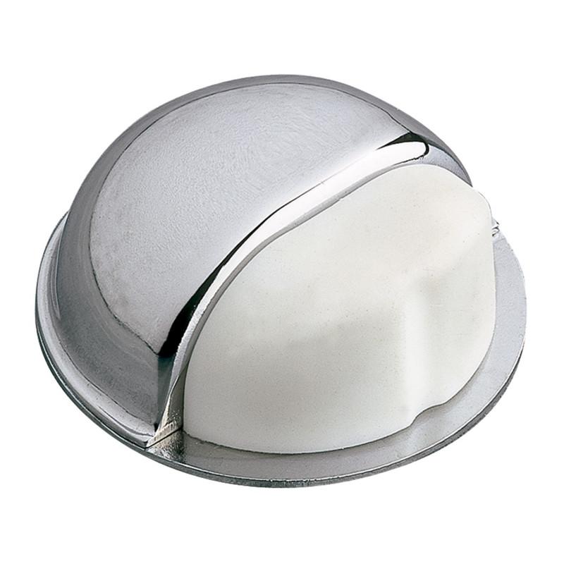 Tope de puerta Goma blanca Ø50mm. Cromado Modelo 402 de Amig