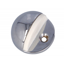 Tope goma blanca Níquel cepillado Modelo 101 de Amig