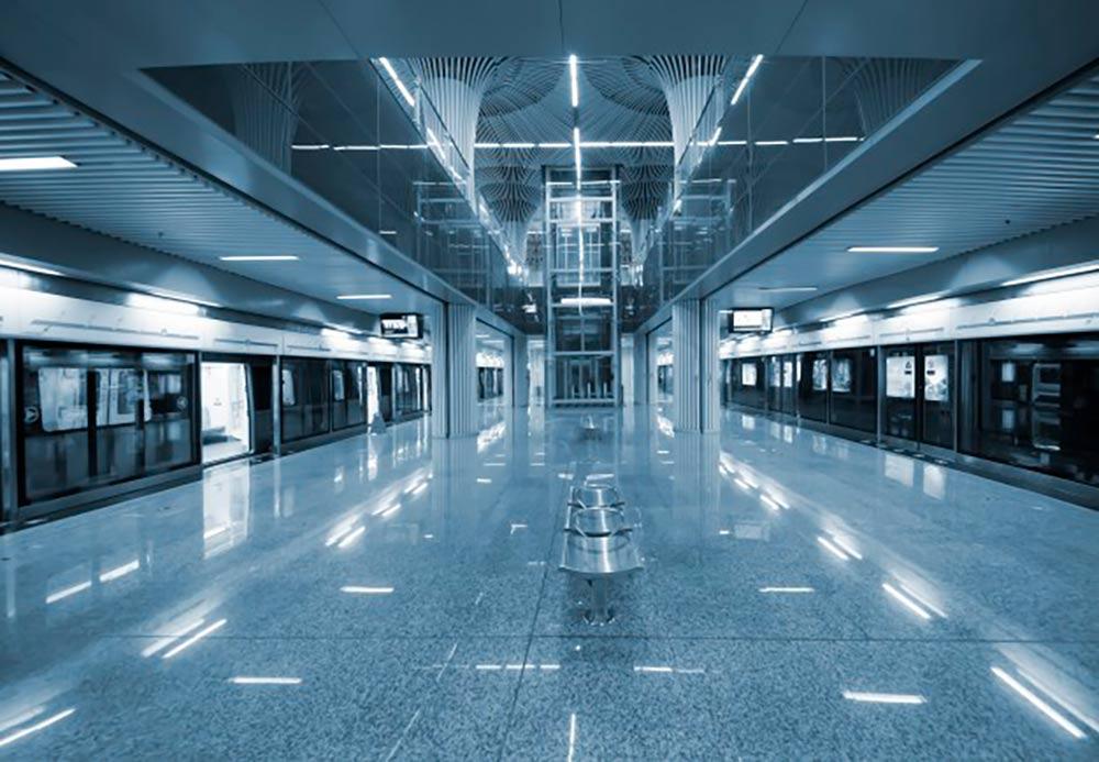 estación metro led
